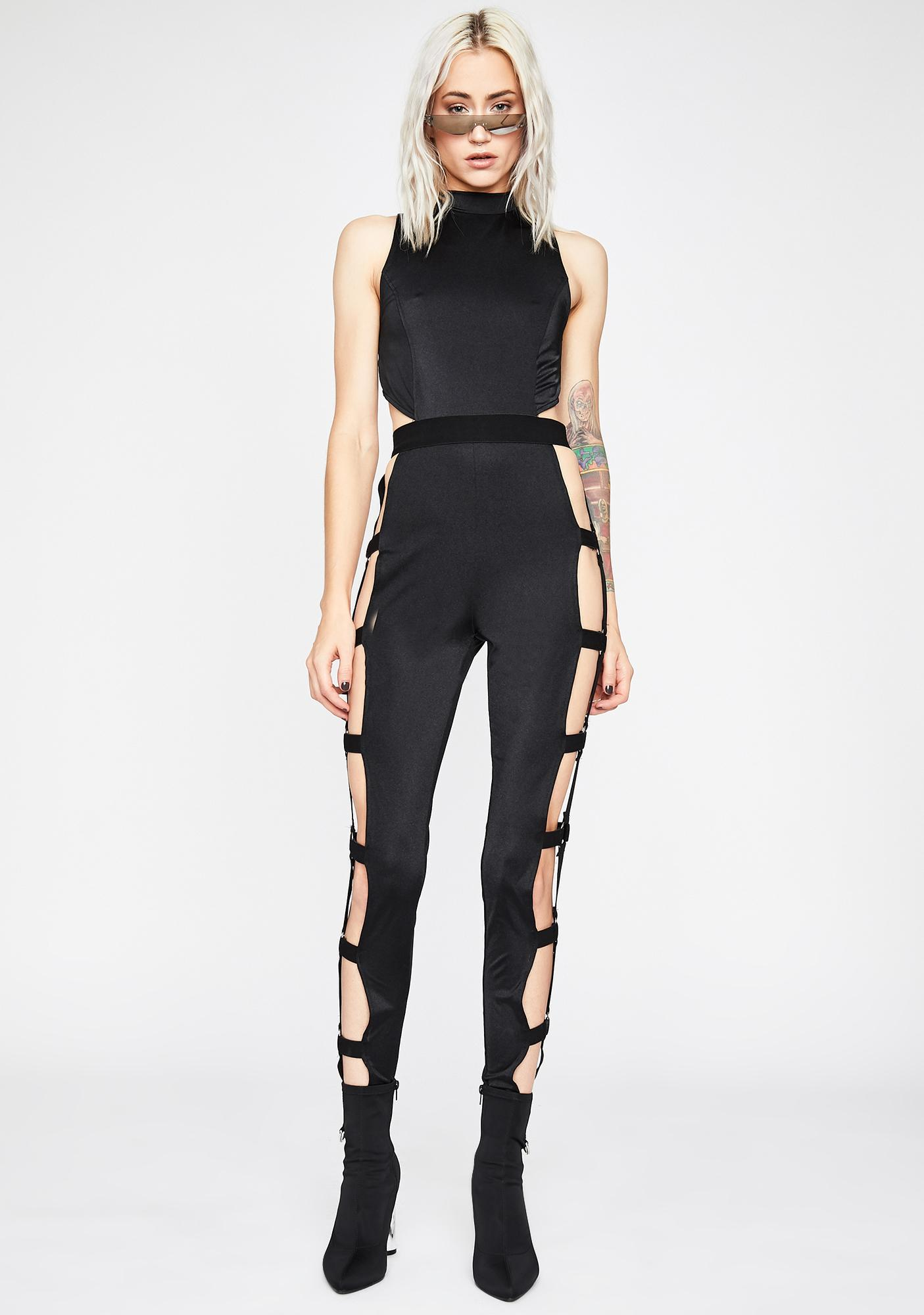 Body Language Cut-Out Jumpsuit