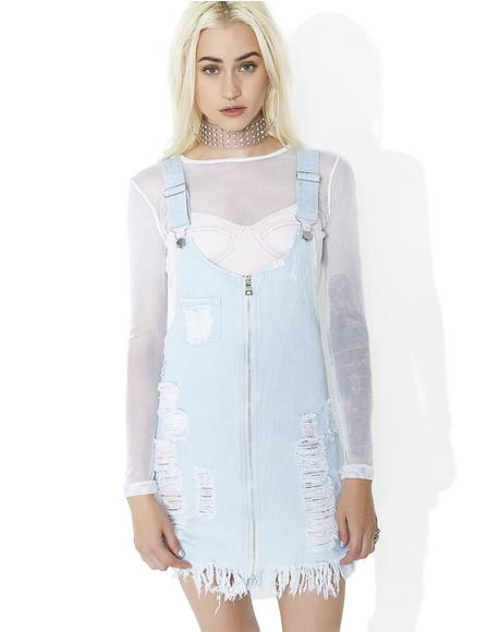Wild Side Lace-Up Denim Dress