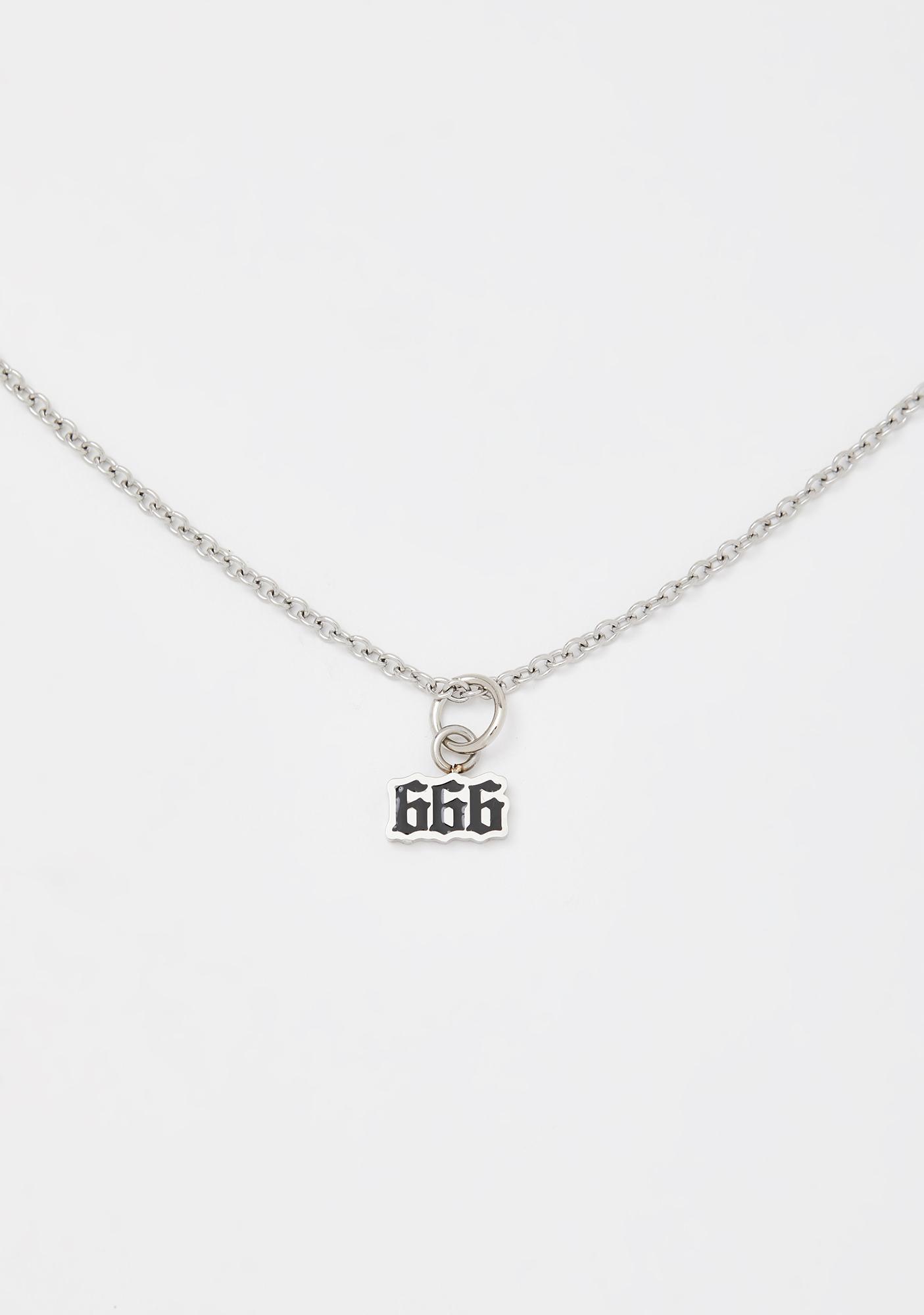 Mysticum Luna 666 Chain Choker
