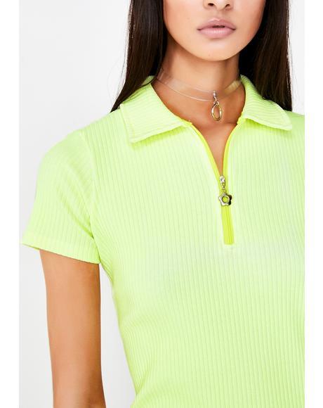 Lemon Tennis Dress
