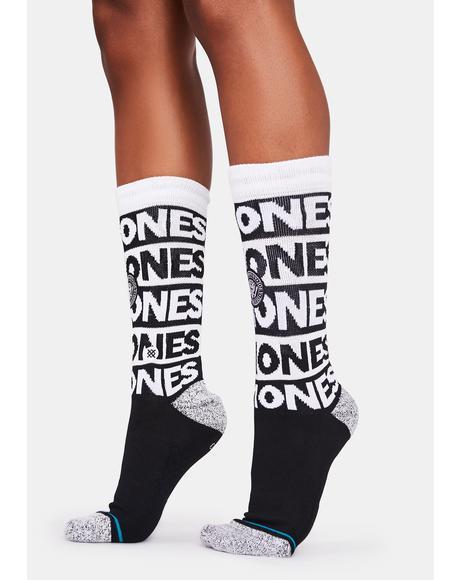 The Ramones Crew Socks