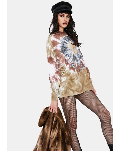 Butterfly Tie Dye Long Sleeve Top