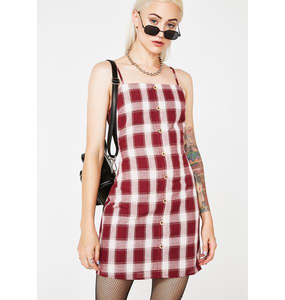 Problem Child Plaid Dress