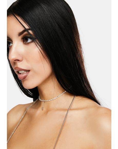 Glam But Deadly Rhinestone Choker