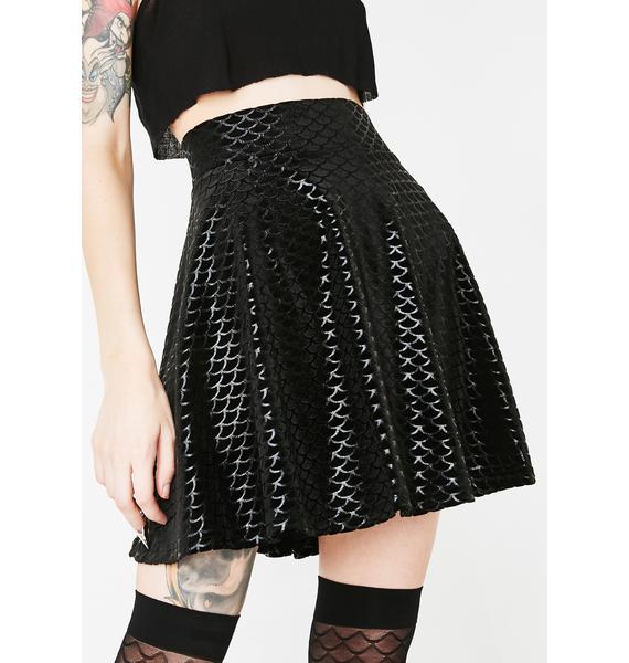Killstar Black Sea Skater Skirt