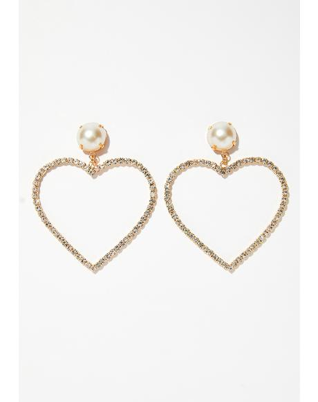 Rich Rhinestone Earrings