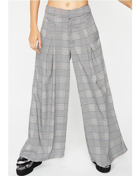 Already Tardy Plaid Pants