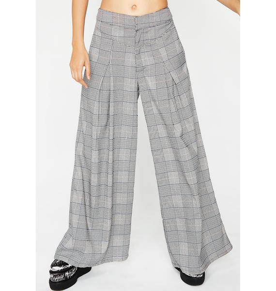 Already Tardy Plaid Pants