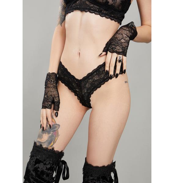 Widow Kiss Of Midnight Lace Panties
