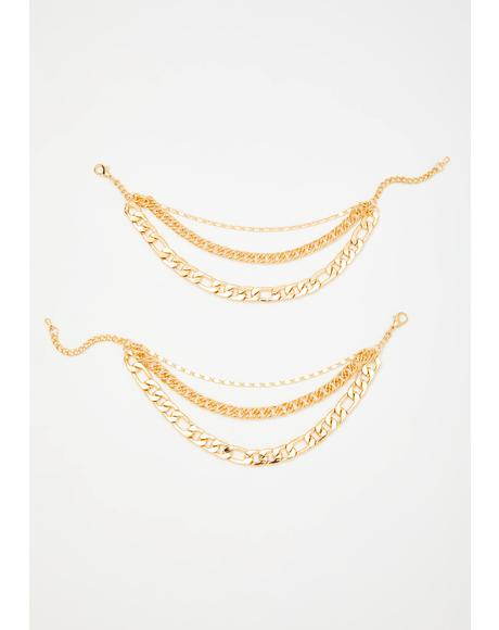 Yas Queen Chain Anklet Set