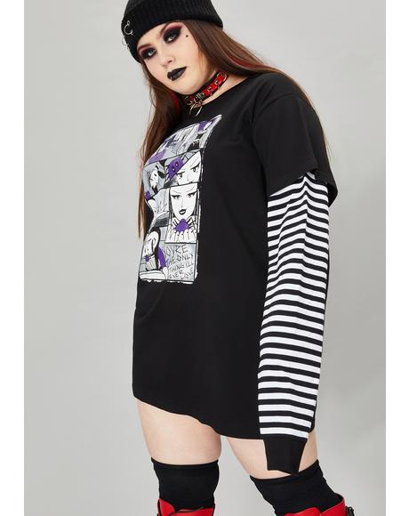 Wicked Tale Of Two Fiends Layered Graphic Tee