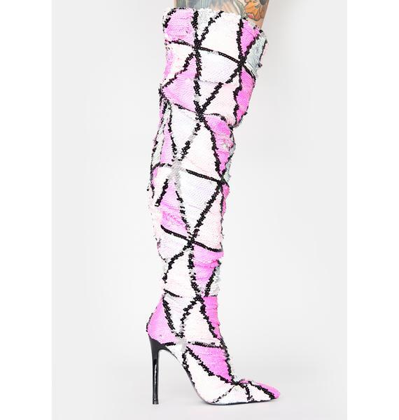 Lemon Drop by Privileged Pink Yasmania Thigh High Boots