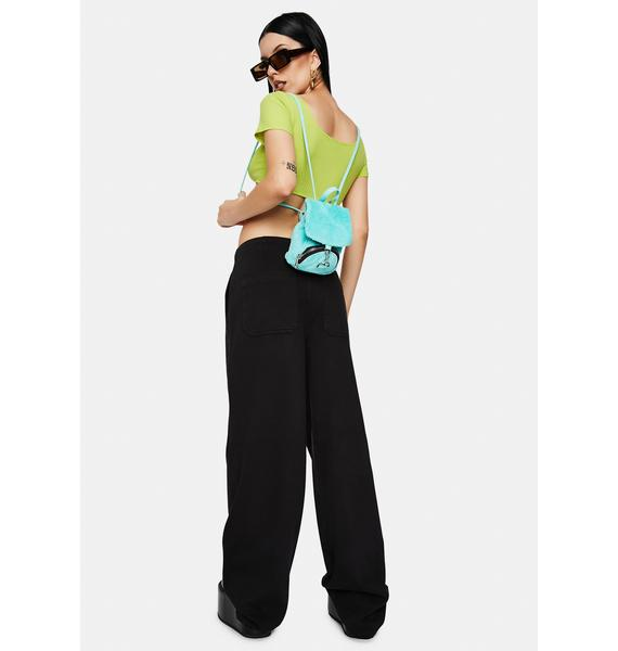 Articles of Society Black Tammy High Waisted Wide Leg Pants