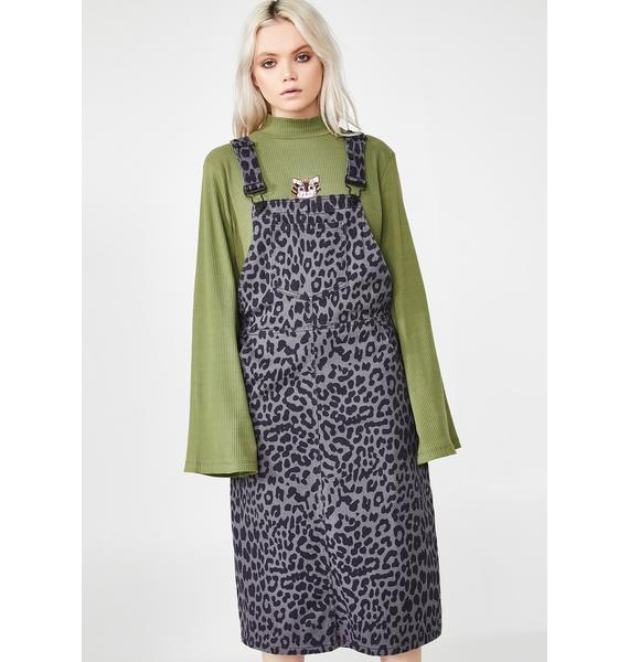 Lazy Oaf Leopard Pinafore Dress