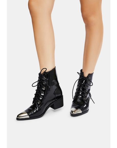 Honorable Mention Patent Ankle Boots