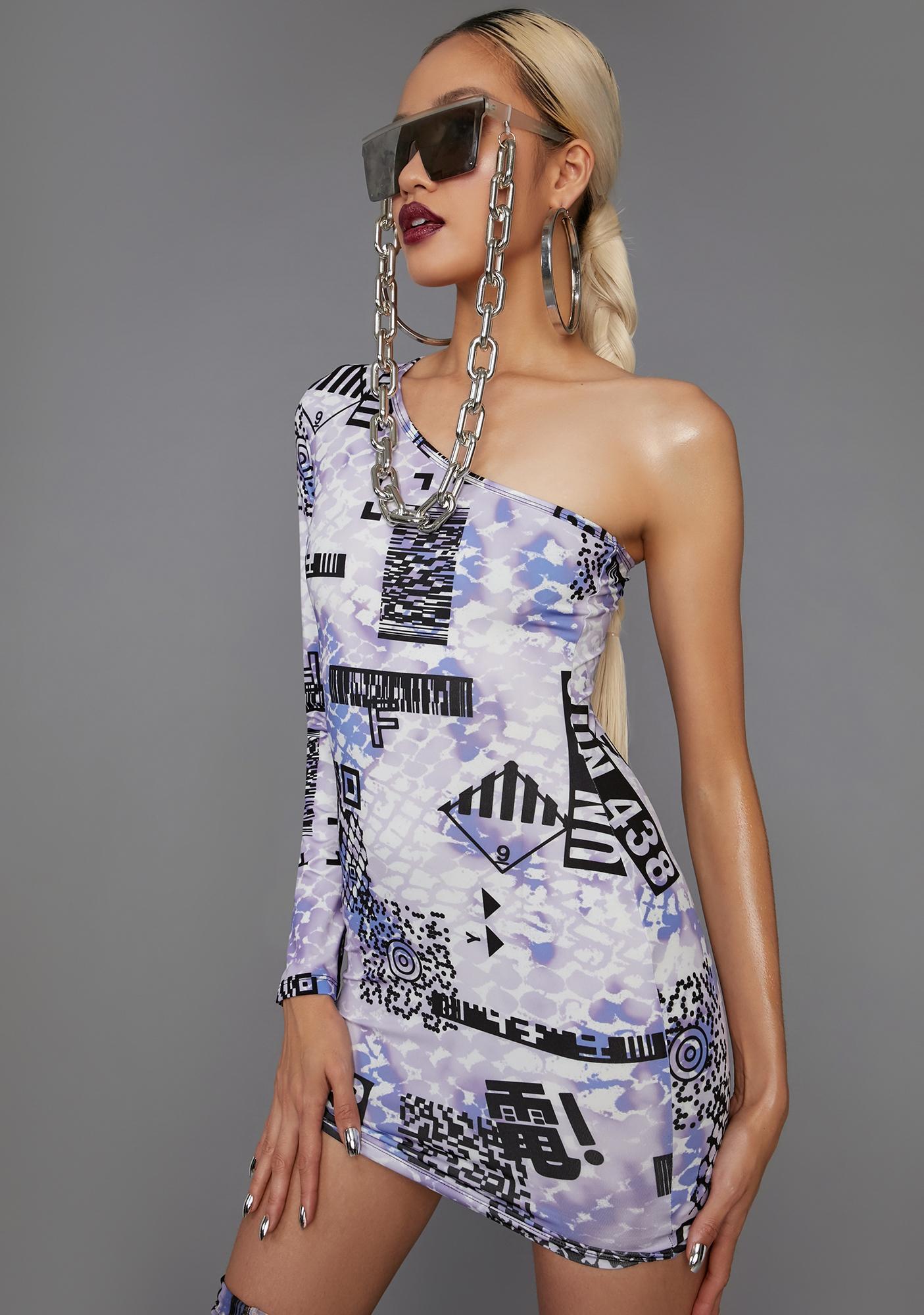 Poster Grl QR Cutie Asymmetrical Mini Dress