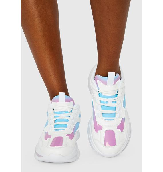 Icy Purple Haze Chunky Sneakers