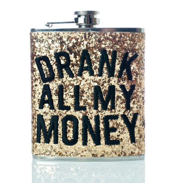 Skinnydip Drank My Money Flask