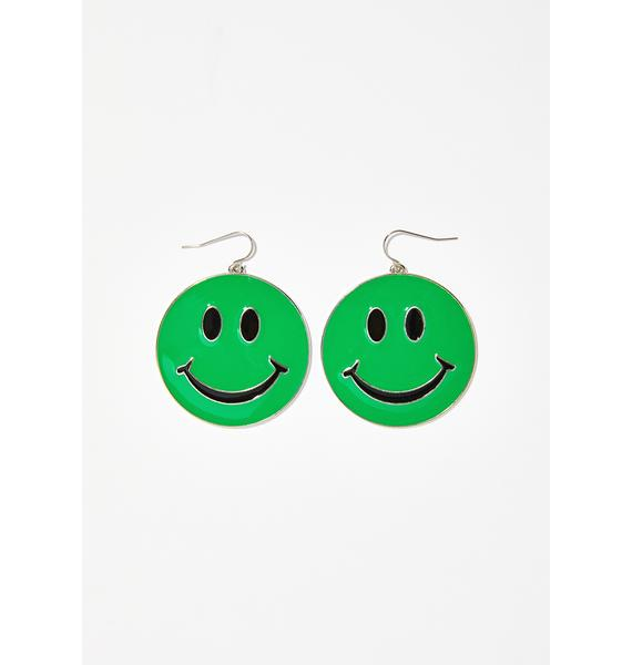 Bright Side Smiley Earrings