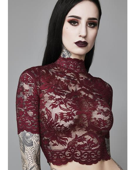 Ominous Trance Lace Top