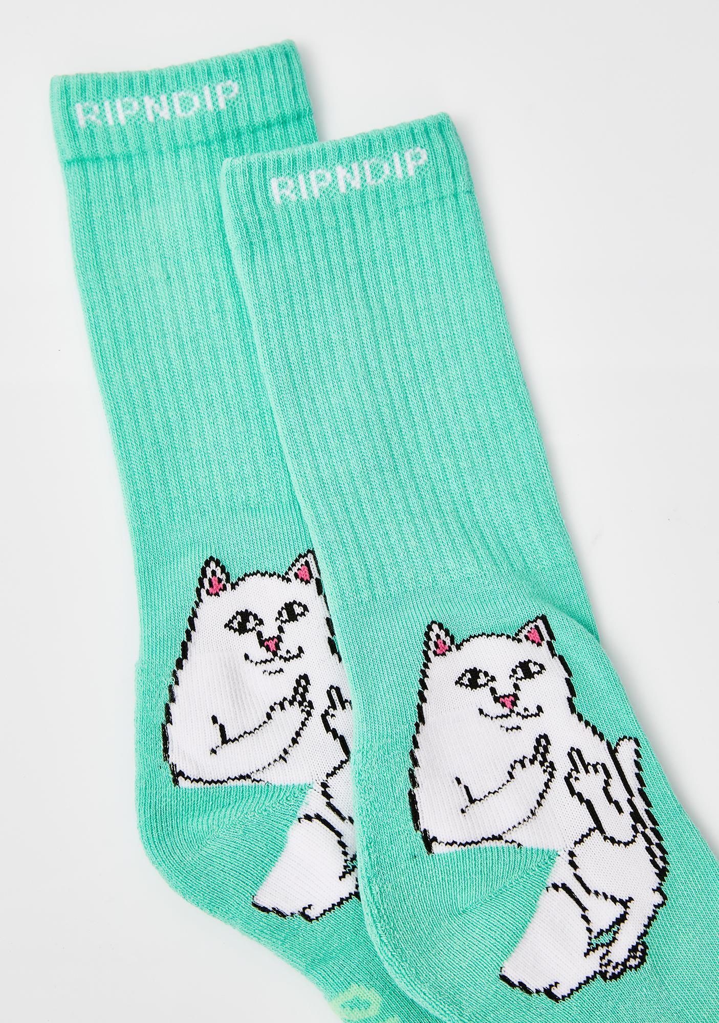 RIPNDIP Minty Lord Nermal Socks