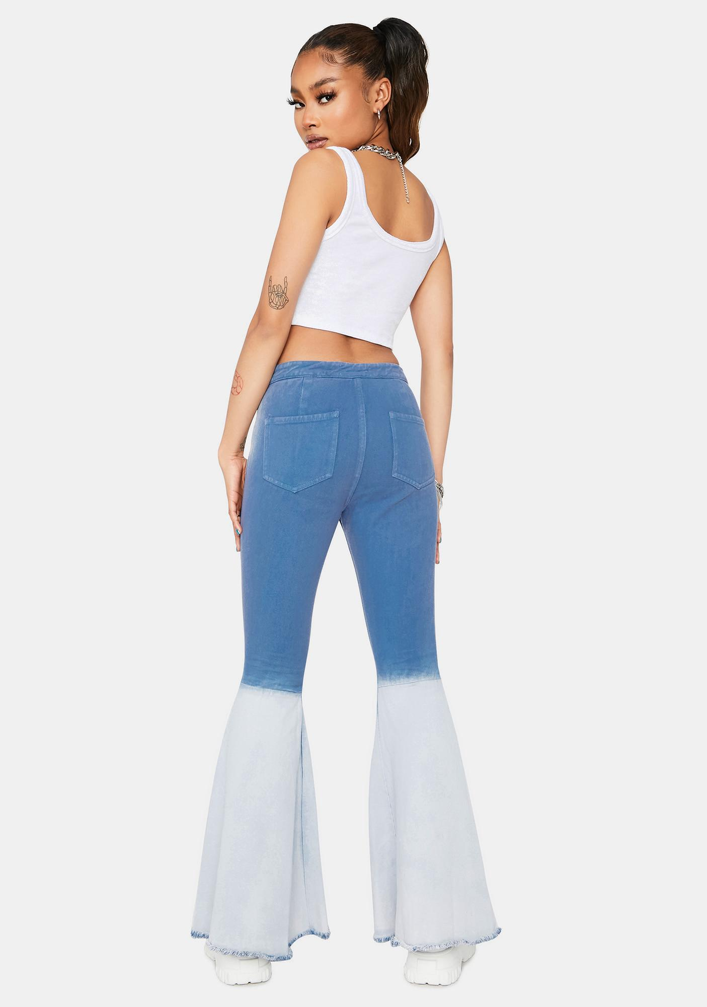 Groove Thang Tie Dye Flare Jeans