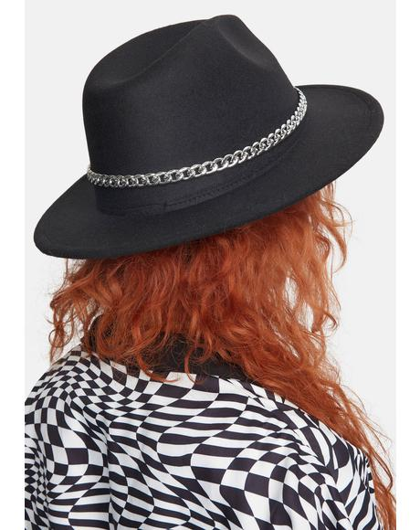 Lose Myself Chain Wide Brim Hat