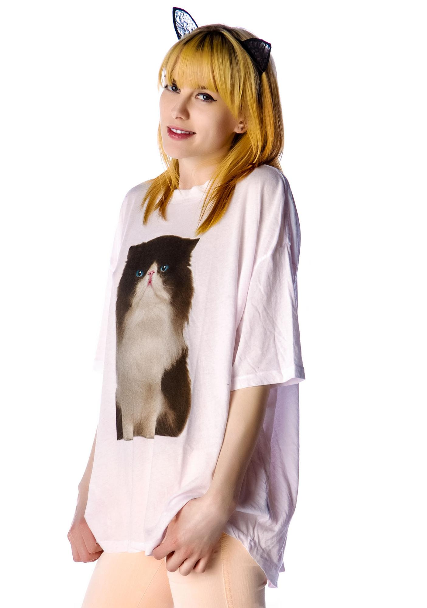 Wildfox Couture Chocolate Kitten Cobain T
