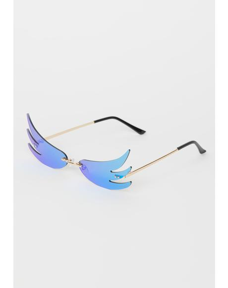 Sky Above The Clouds Wing Sunglasses