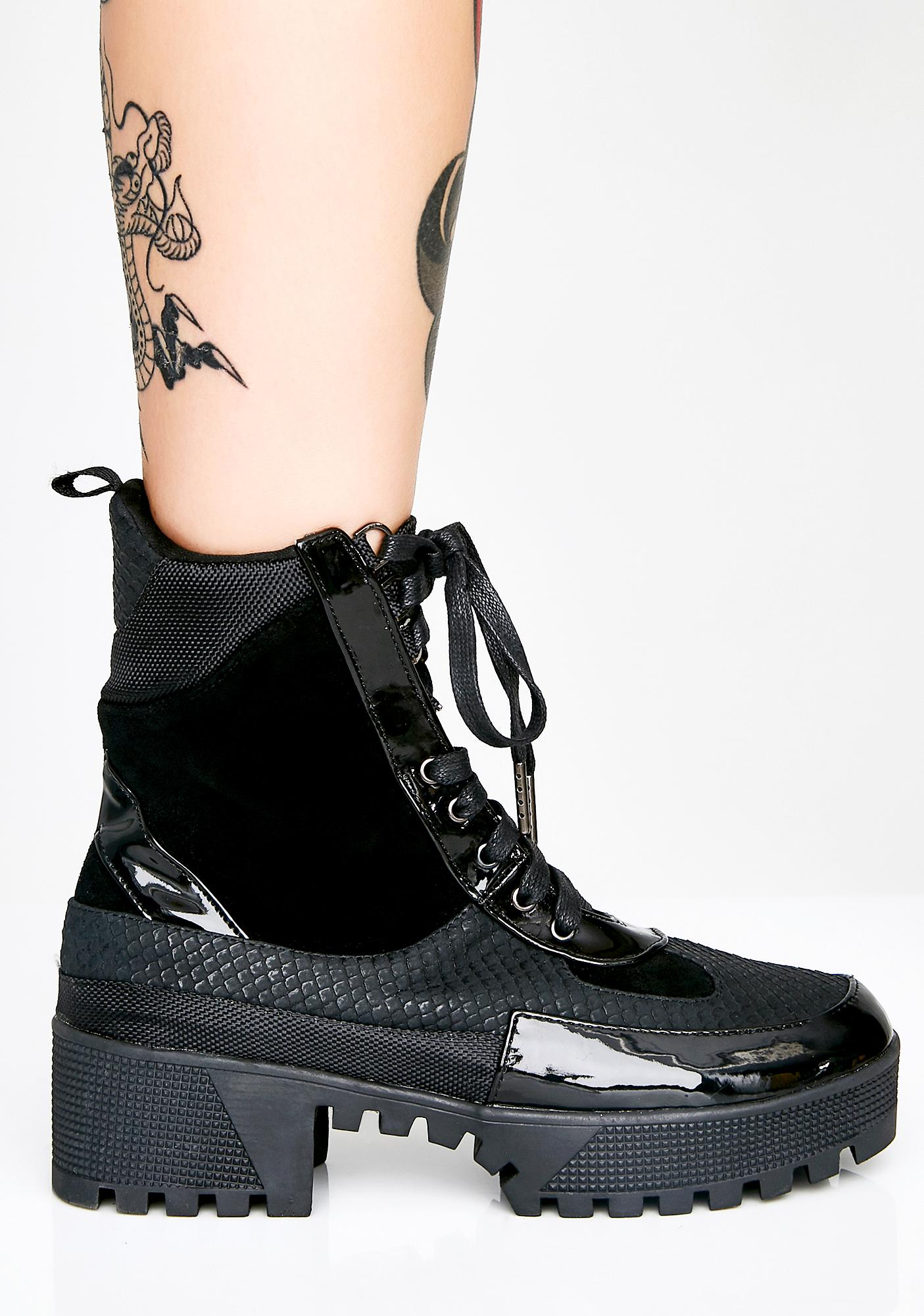 Night In Command Combat Boots