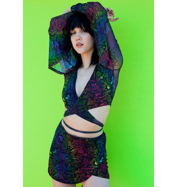 Club Exx Show Ur Pride Wrap Skirt