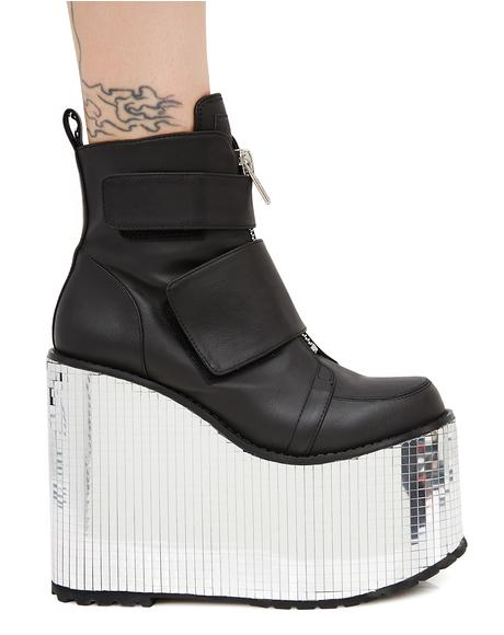 Diabolical Disco Platform Wedges