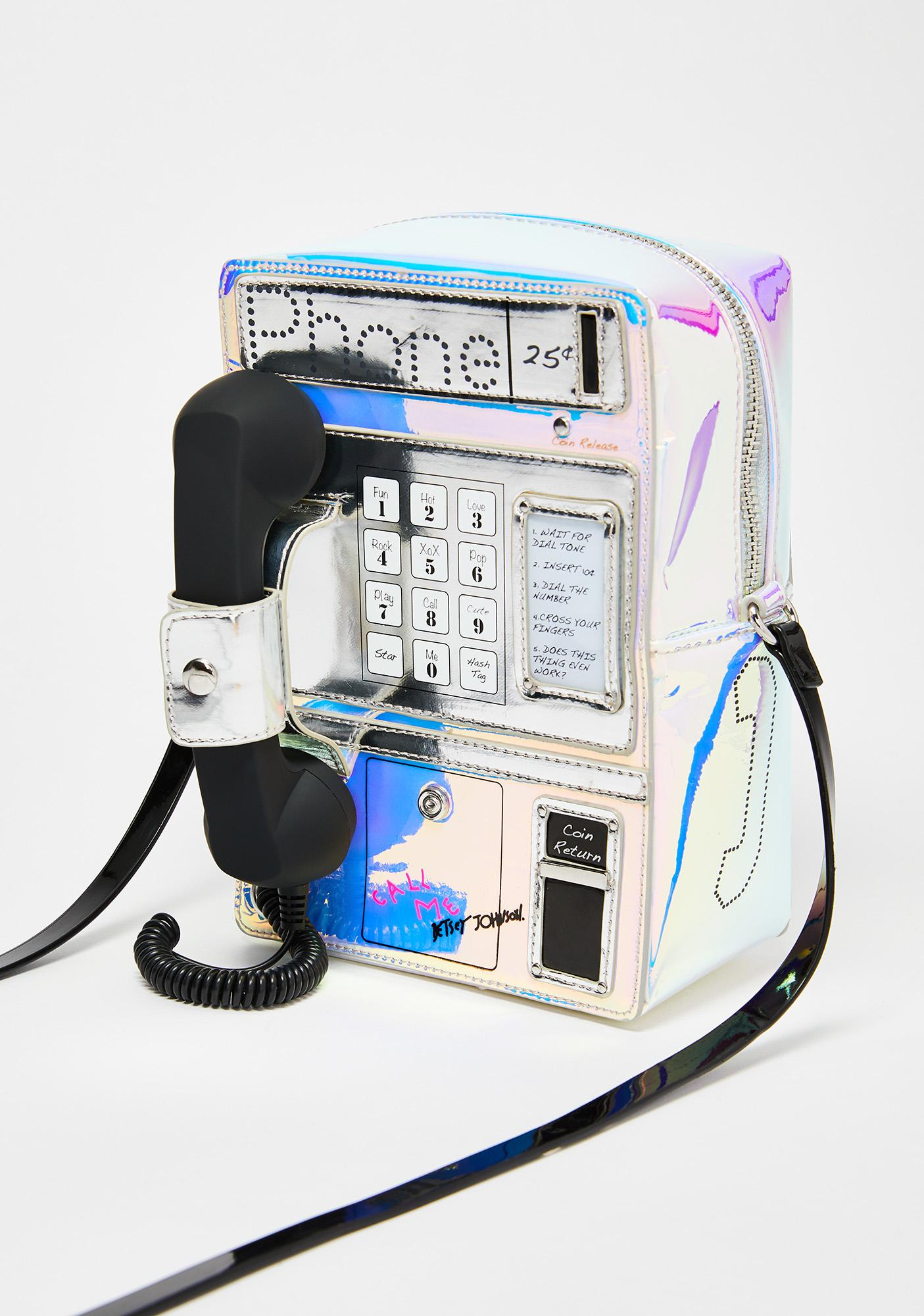 Betsey Johnson Telephone Crossbody Bag