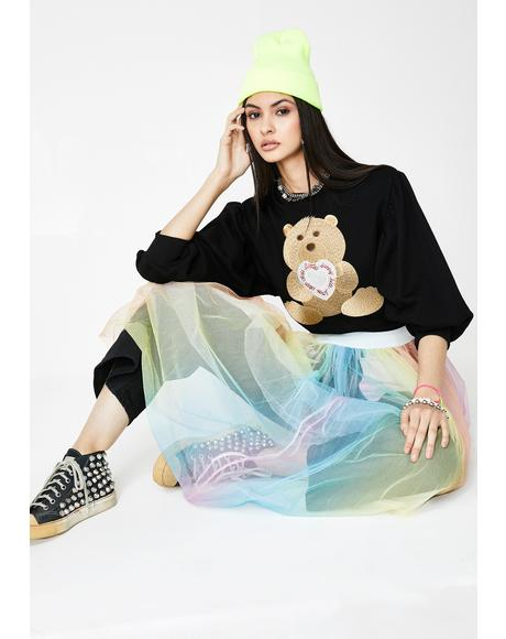 Clap Clap Bear Stitch Sweater