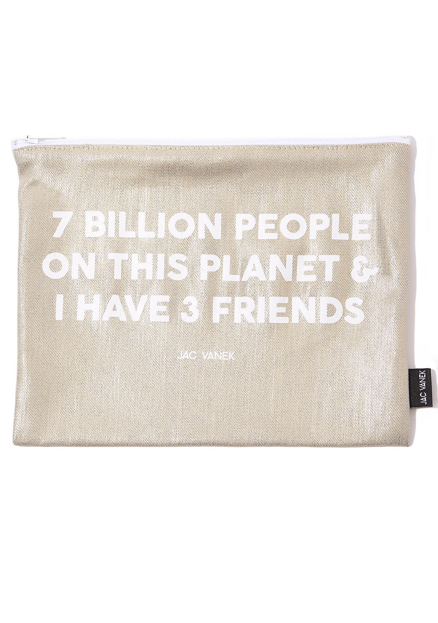 Jac Vanek 3 Friends Zip Pouch