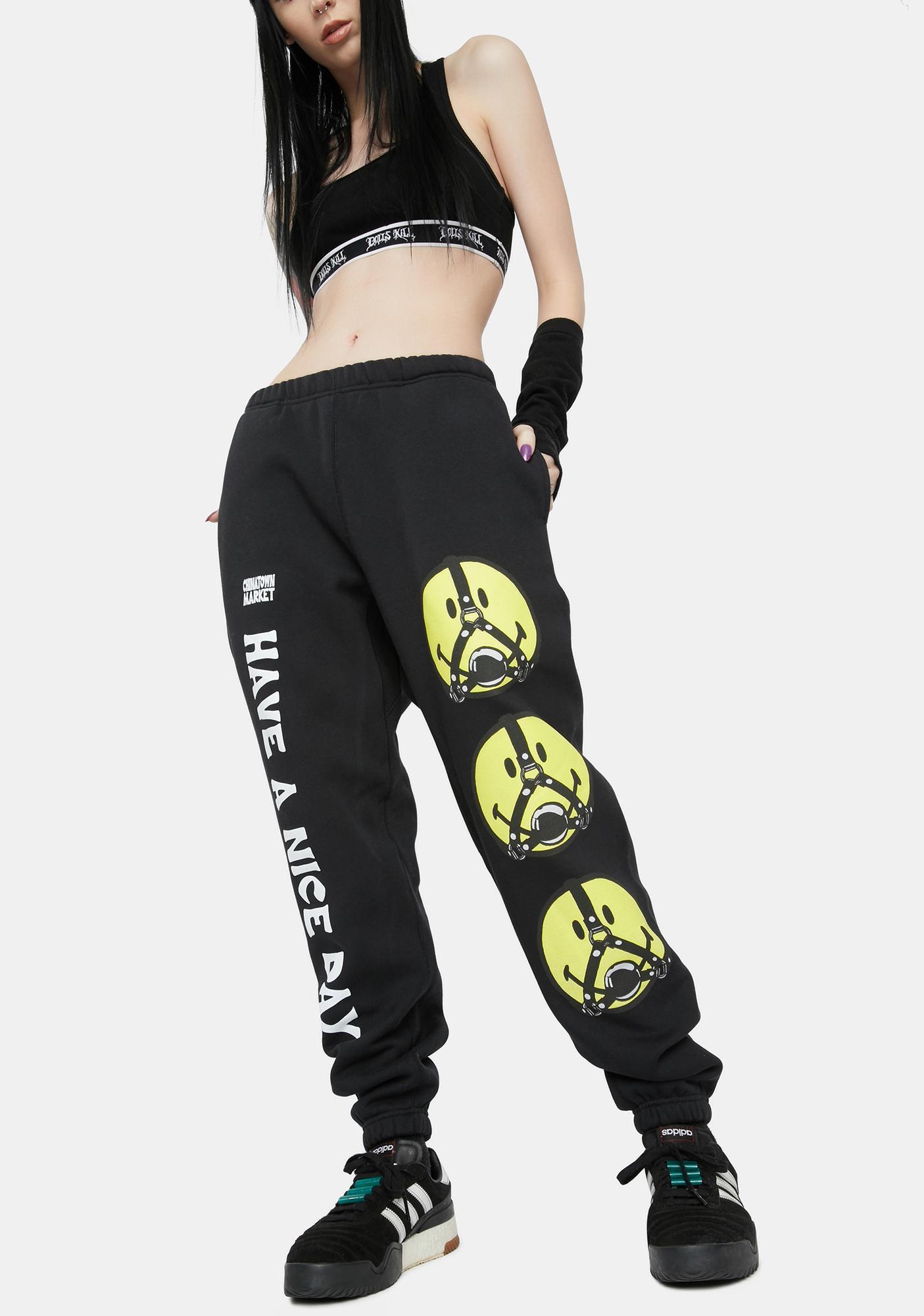 CHINATOWN MARKET Smiley Ball Gag Sweatpants