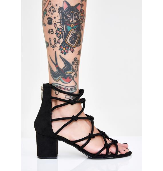Knotty Grl Strappy Heels