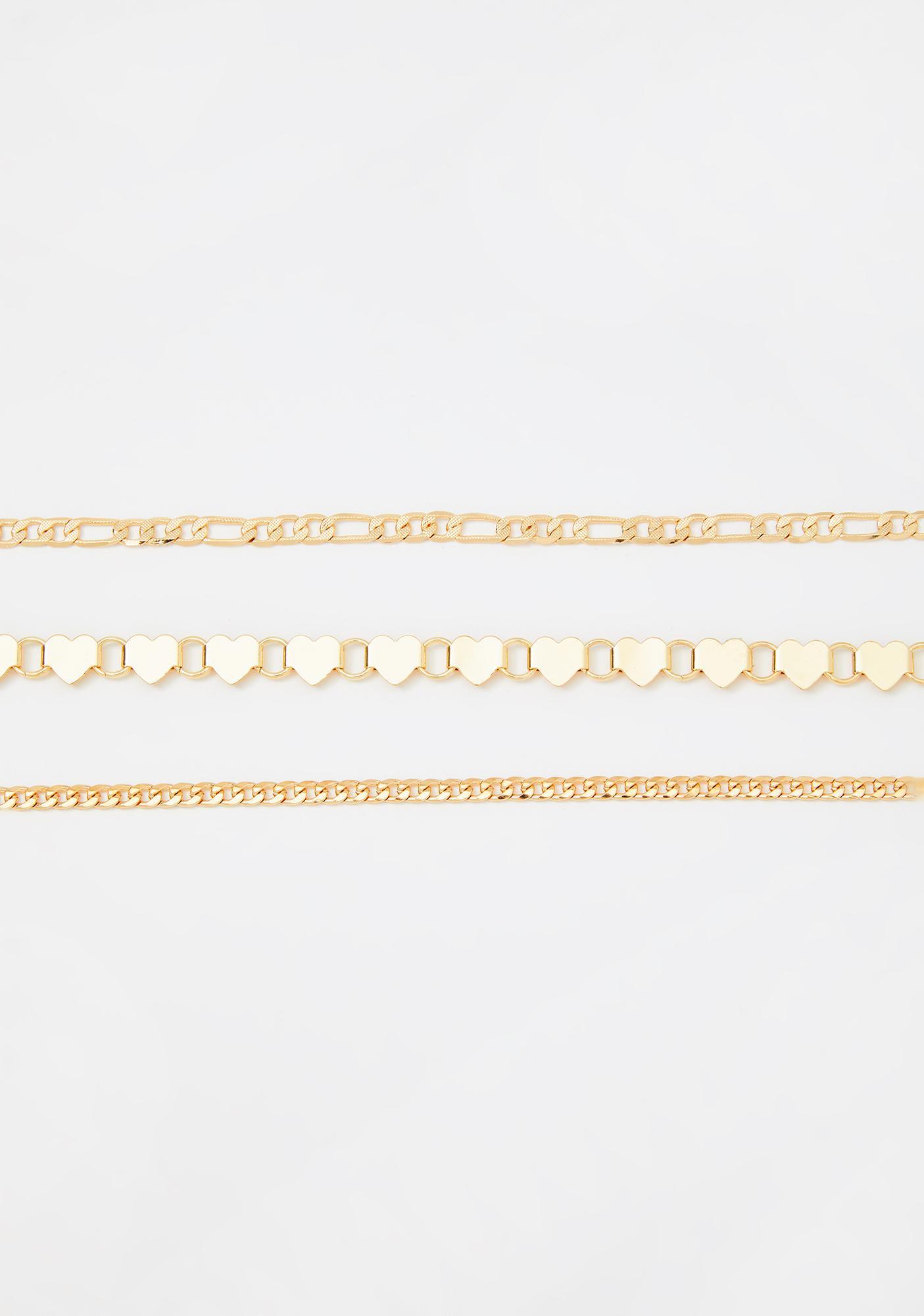 Luminous Love Chain Choker Set