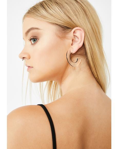 Out Of Line Hoop Earrings
