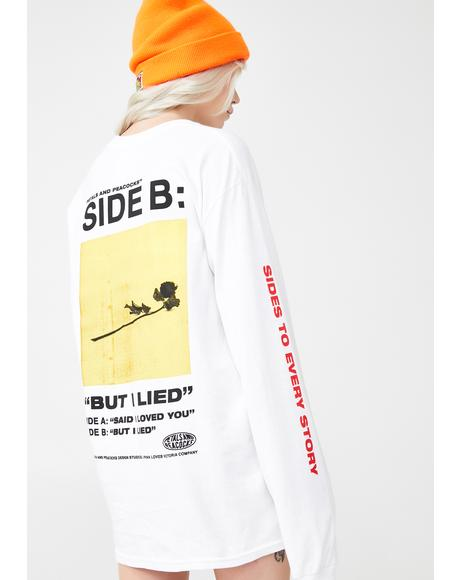 2 Sides Longsleeve Graphic Tee