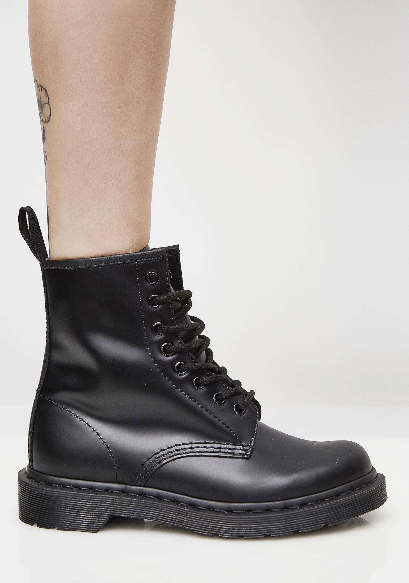 beaebbec233afa ... Dr. Martens Black 1460 Mono Boots ...