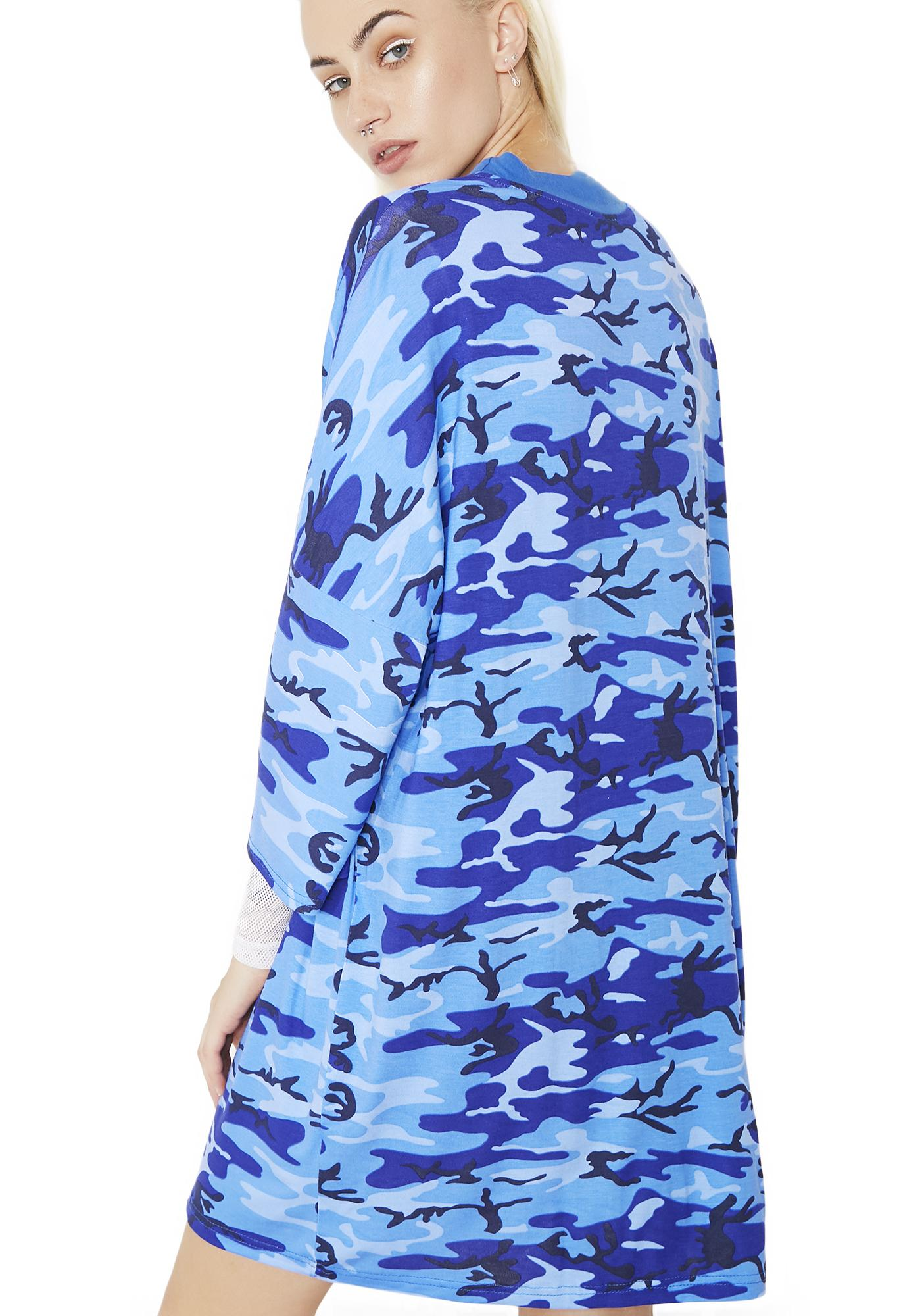 The Ragged Priest Blue Camo Dress
