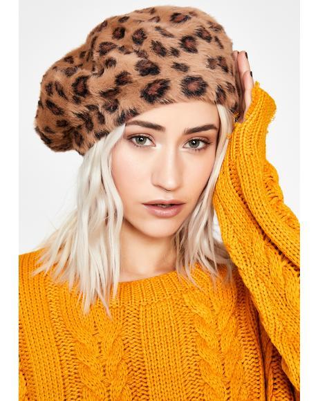 Feral Fashionista Leopard Beret