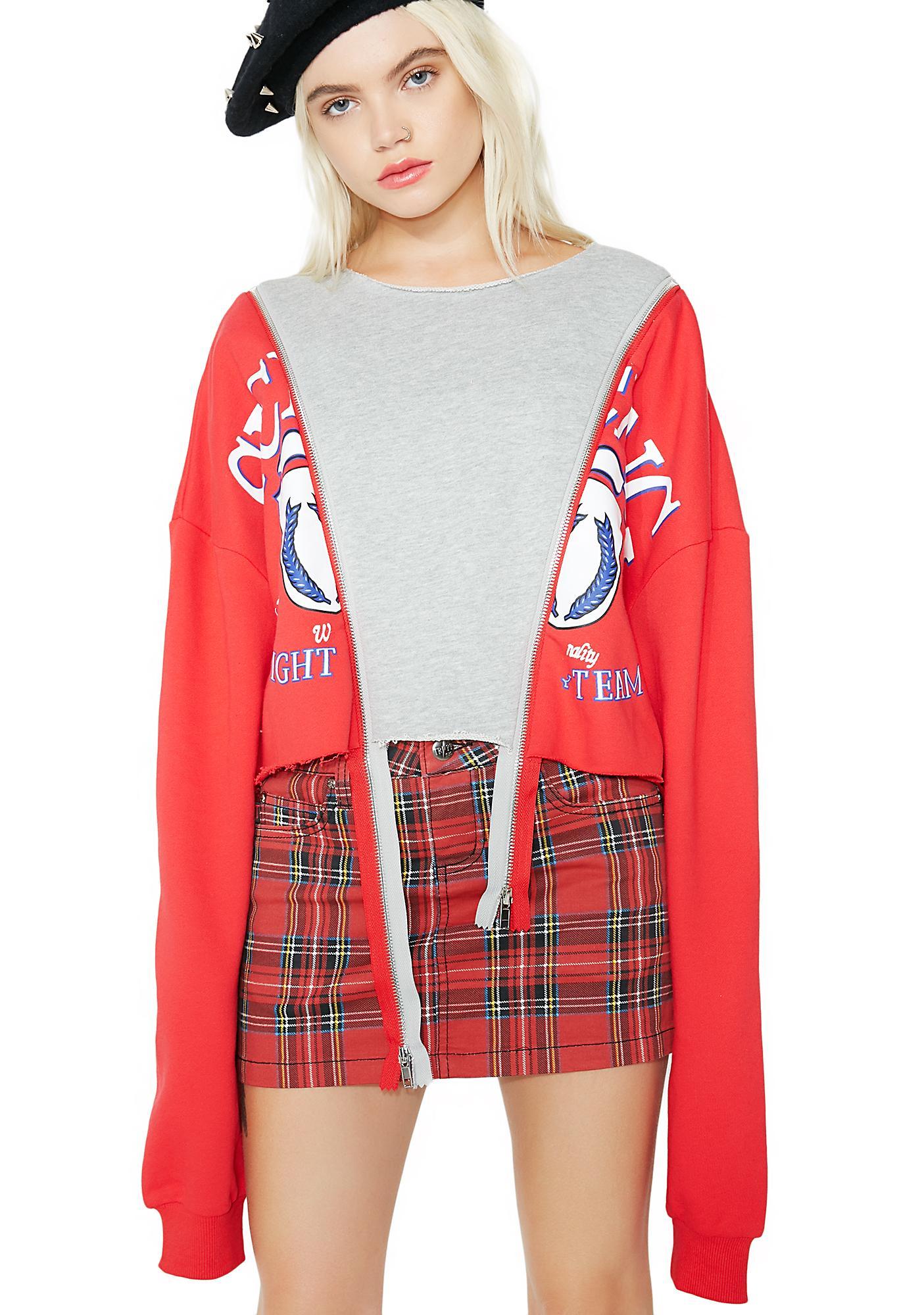 In The Mix Paneled Sweatshirt
