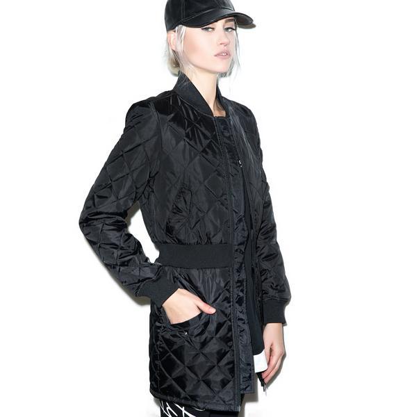 Black Scale Stealth Bomber Dress