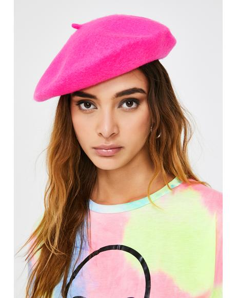 Sweet Fetch My Things Neon Beret