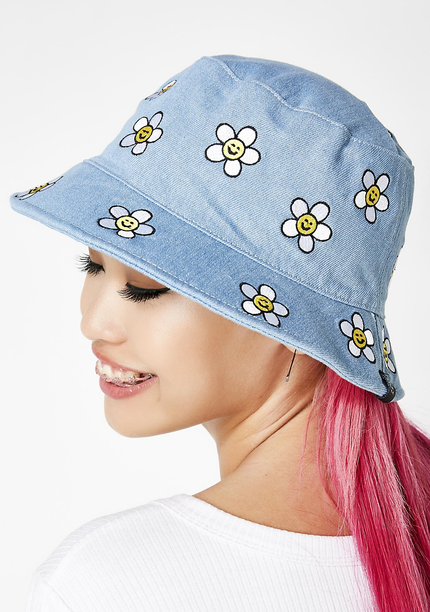 ddec7234a1bf8 ... Lazy Oaf Denim Daisy Bucket Hat