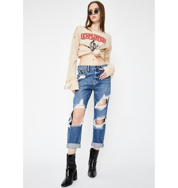 Hidden Denim Bailey Distressed Boyfriend Jeans