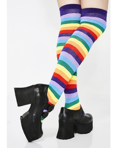 Prideful Life Striped Socks