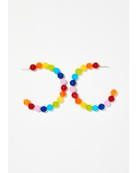 Technicolor Thot Bead Earrings